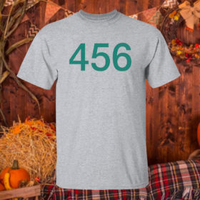 T Shirt Sport grey The Squid Games 456 Shirt