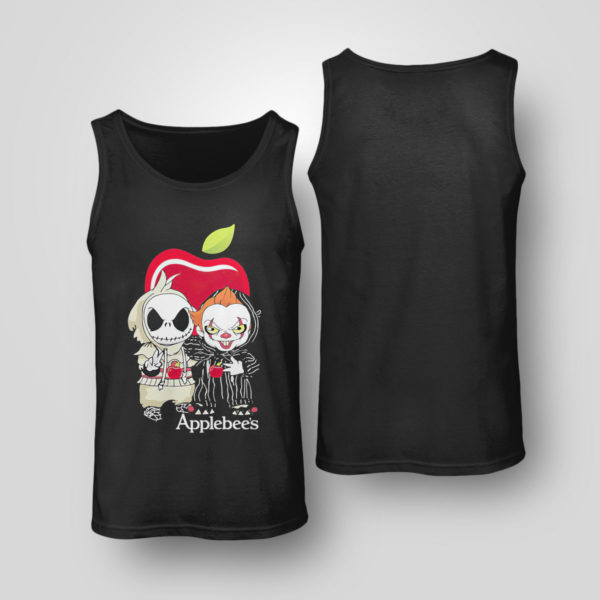 Tank Top Baby Jack Skellington And Baby Pennywise Is Friends Applebees Shirt