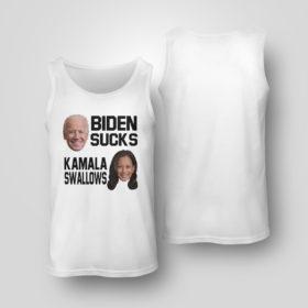 Tank Top Biden Sucks Kamala Swallows Shirt