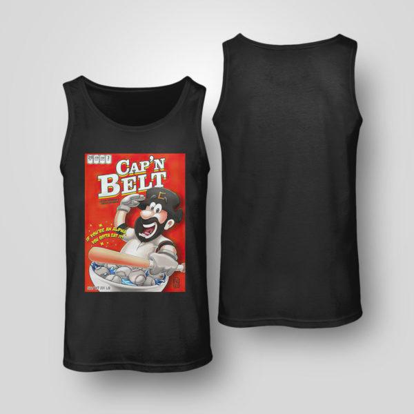 Tank Top Capn Belt baseball if youre an alpha you gotta eat it shirt
