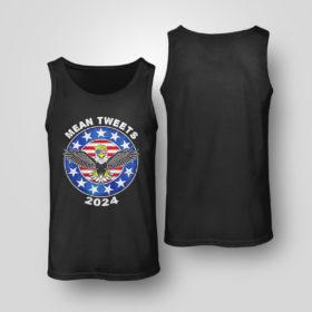 Tank Top Donald Trump Eagle mean tweets 2024 American flag shirt 1