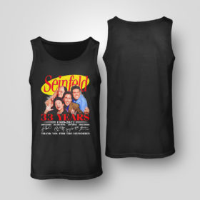Tank Top Seinfeld 33 years 1989 2022 thank you memories signatures shirt