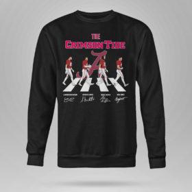 Unisex Sweetshirt The Crimson Tide Abbey Road signatures shirt