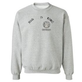 Unisex Sweetshirt sport grey Kanye west jesus is king t shirt