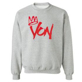 Unisex Sweetshirt sport grey King Von Shirt