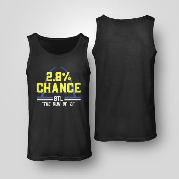 Unisex Tank Top St Louis 2 8 Chance Stl The Run Of 2021 Shirt