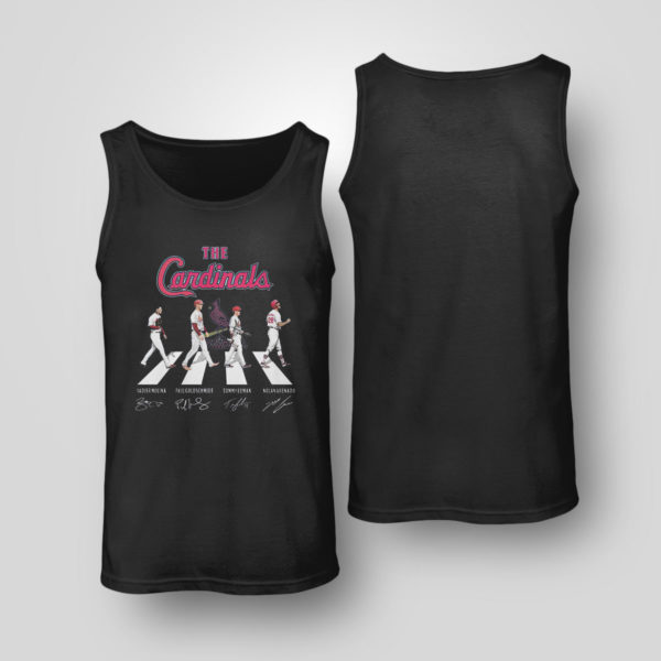 Unisex Tank Top The Cardinals Abbey Road signatures shirt
